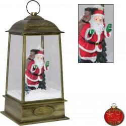 Décorations lumineuses Noël. Lanterne pyramidale Led chute de neige