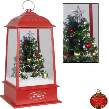 Décorations lumineuses 39803 Lanterne de Noël à Led fontaine à neige