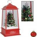Lanterne de Noël LED flocons de neige tombante 32 cm