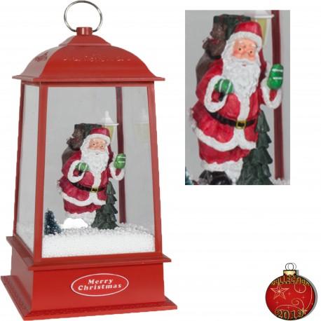 Décorations lumineuses 39801 Lanterne de Noël à Led fontaine à neige