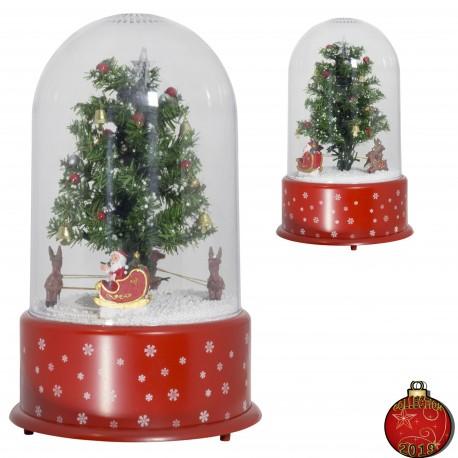 Décorations lumineuses - Dome à Led fontaine à neige réf37602  35cm