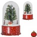 Lanterne dôme de Noël avec flocons de neige tombante 35cm