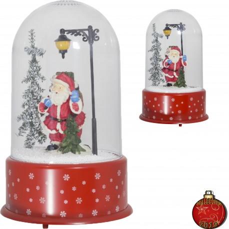 Décoration lumineuse Noël Lampe LED dôme chute flocon neige tombante