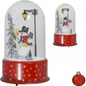 Dome à led de Noël avec fontaine à neige soufflante 35cm