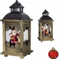 Lanterne de Noël à éclairage Led 38cm