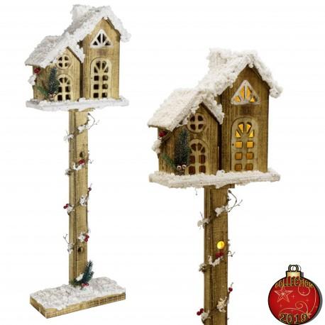 Décoration lumineuse Noël. Lanterne Noël bois guirlande lampe LED