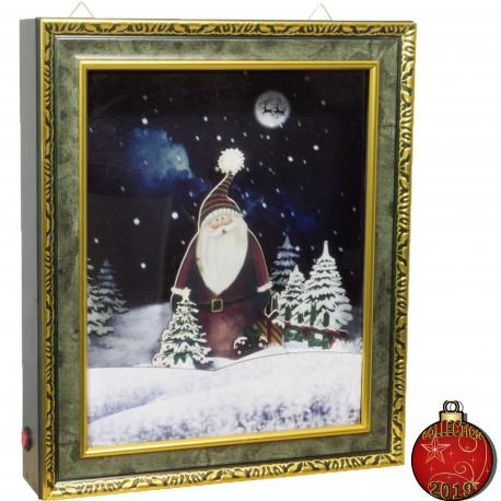 Décoration lumineuse Noël animée. Tableau LED Flocons neige soufflante