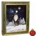 Tableau de Noël Led flocons de neige tombante 46X38 cm