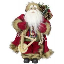 Figurine Père noël géant 30cm Lupo pour décoration de noel et vitrine