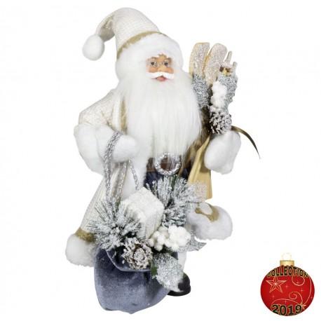 Père noël géant Bart45 Figurine pour décoration de noel et vitrine