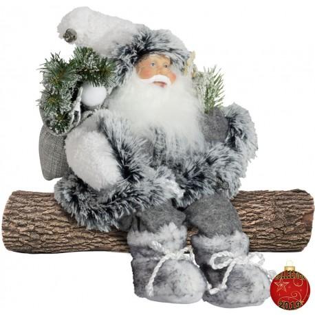Père Noël géant Alec assis Figurine pour décoration de noel et vitrine