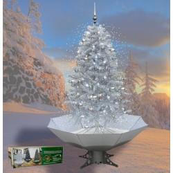 Sapin de Noël avec neige tombante en chute 75cm argent