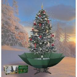 Sapin de Noël avec neige tombante en chute pour décoration de noël