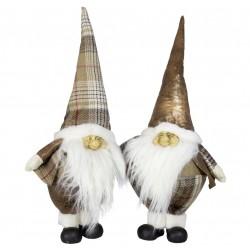Couple de gnomes de géant Aël 50cm pour décoration de noel et vitrine