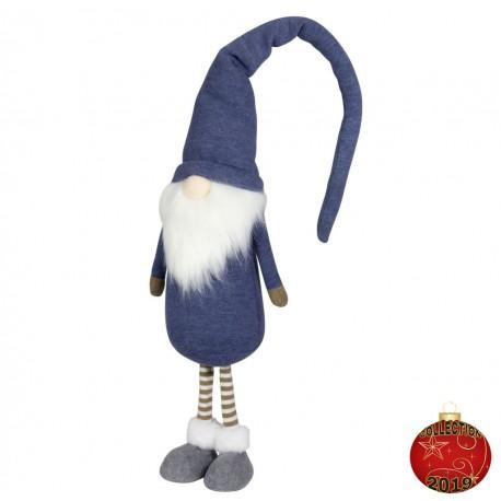 Gnome noël géant Rion50 Figurine pour décoration de noel et vitrine