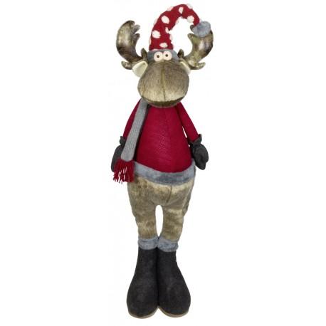 Elan de noël géant Kery12 Figurine pour décoration de noel et vitrine