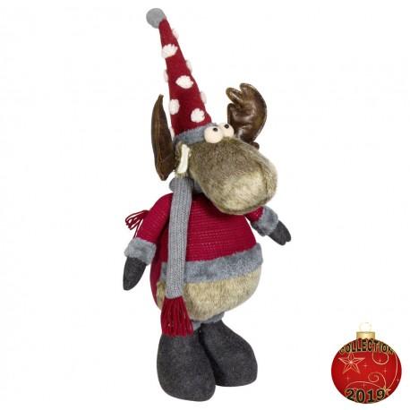 Elan de noël géant Saian Figurine pour décoration de noel et vitrine