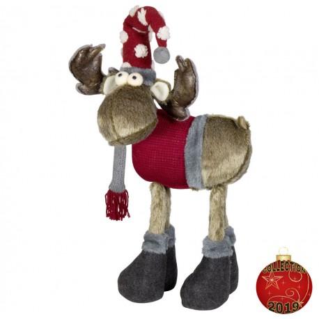 Elan de noël géant Dago48 Figurine pour décoration de noel et vitrine