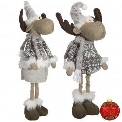 Couple Elan géant Anyr55 Figurine pour décoration de noel et vitrine