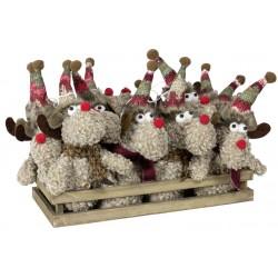 12 Elans de noël Arya Figurines pour décoration de noel et vitrine
