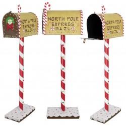 Boite à lettre du Père Noël 102cm pour l'avent et décoration de noel