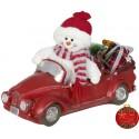 Bonhomme de neige dans auto à Led 32cm