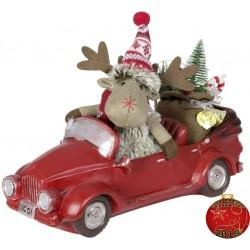 Elan de noel dans auto à Led en polyrésine pour décoration de Noël.