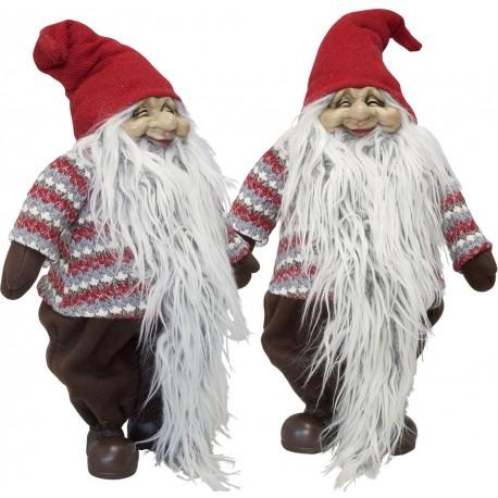Gnome noël géant Nalas44 Figurine pour décoration de noel et vitrine