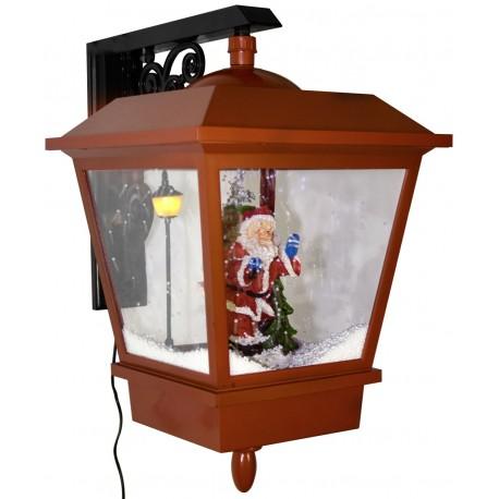 Décorations lumineuses Lanterne de Noël à Leds fontaine à neige 45cm