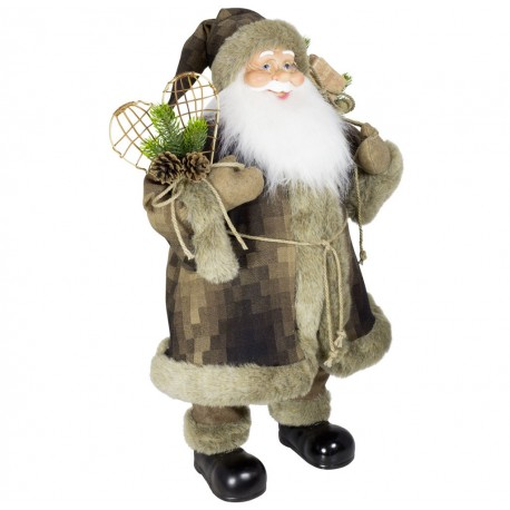 Père noël géant Natan80 Figurine pour décoration de noel et vitrine