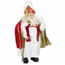 Figurine Père noël géant Cardinal. Décoration noel vitrine magasin