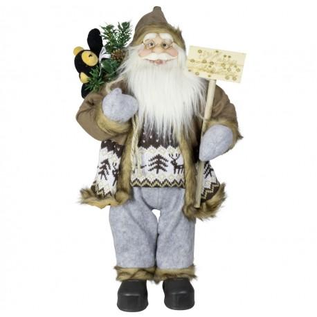 Père noël géant Gallen60 Figurine pour décoration de noel et vitrine