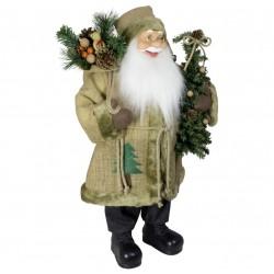 Père noël géant Lenis60 Figurine pour décoration de noel et vitrine