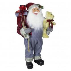 Père noël géant Edgar60 Figurine pour décoration de noel et vitrine