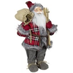 Père noël géant 60cm Alderic Figurine pour décoration de noel et vitrine