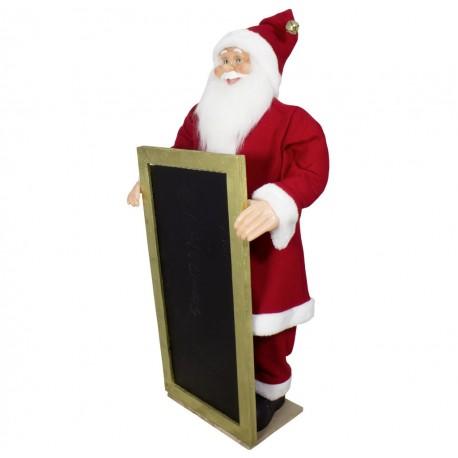 Figurine Père noël géant avec tableau Led Léo90 pour décoration noel