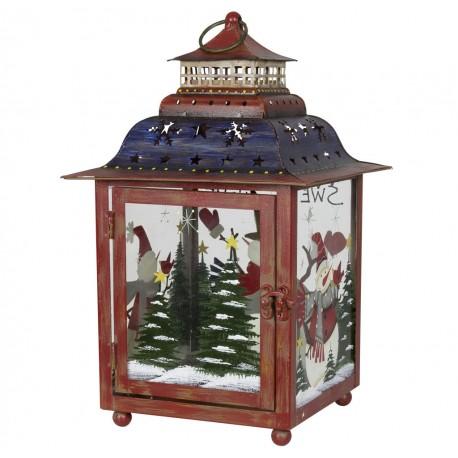 Décoration lumineuse Noël. Lanterne Noël métal décoration fait main
