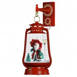 Lanterne rétro de Noël Led flocons de neige tombante 35cm