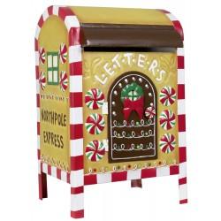 Boite à lettre du Père Noël 50cm pour décoration de noel