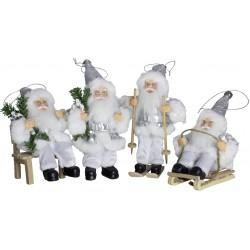 8 Figurines de Pères noël géant pour décoration de noel