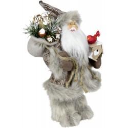 Père noël géant Lucas Figurine pour décoration de noel et vitrine