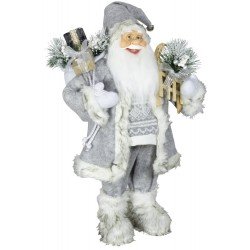 Figurine Père noël géant Anael pour décoration de noel et vitrine