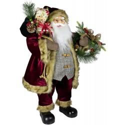 Père noël géant Edris80 Figurine pour décoration de noel et vitrine