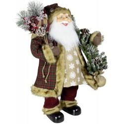 Père noël géant Benji80 Figurine pour décoration de noel et vitrine