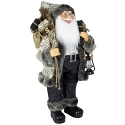 Figurine Père noël géant 60cm Cyrano pour décoration de noel et vitrine