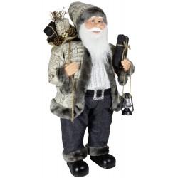 Figurine Père noël géant 80cm Cyrano pour décoration de noel et vitrinr