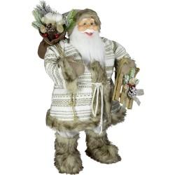 Père noël géant 80cm Sami Figurine pour décoration de noel et vitrine