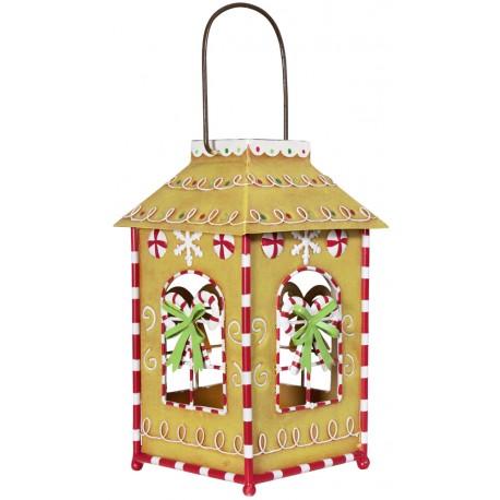 Décoration lumineuse Noël. Lanterne lampe LED Noël bois décorative