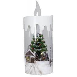 Bougie de Noël Led flocons de neige tombante 45 cm