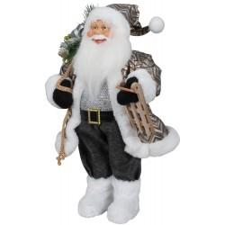Père noël géant 45cm Ruben Figurine pour décoration de noel et vitrine